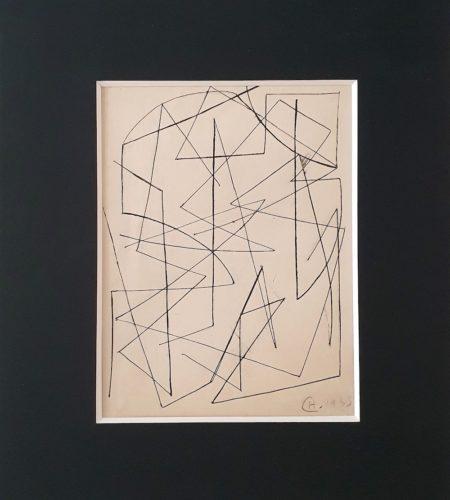 Y10, encre de Chine sur papier, 1933, 34,7 x 26,6 cm