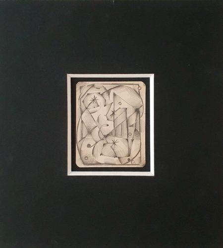 Y4, mine de plomb sur papier Bristol, 1930, 11,5 x 9,3 cm