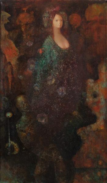 démons et sortilèges, huile sur toile, 98,5 x 57,5 cm