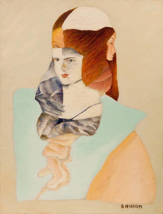 Trois visages, 2005, huile sur toile, 40 x 31 cm